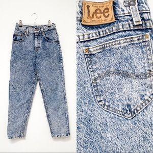 80s Lee High-waisted Acid Wash Jeans